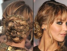 Letsmakeitup1 make a tutorial on this! Love it! (HG Premire, Jennifer Lawrence)
