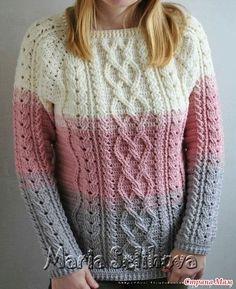 33 knitted pullovers for women and children, Knitting for children // Данута Жибуль Crochet Jumper, Crochet Vest Pattern, Crochet Cable, Crochet Skirts, Crochet Quilt, Crochet Jacket, Crochet Blouse, Sweater Knitting Patterns, Crochet Clothes