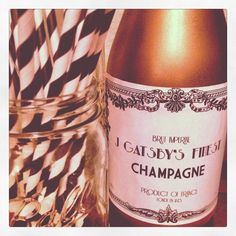1920s personalised bottles of champagne!!!!!!