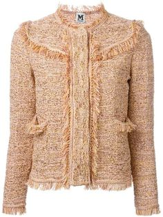 M Missoni fringed woven jacket