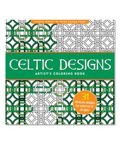 Celtic Designs Artist's Coloring Book by Peter Pauper Press #zulily #zulilyfinds