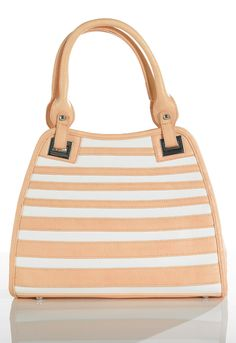 Nude Stripe Tote Bag - Womens Clothing Sale, Womens Fashion, Cheap Clothes Online | Miss Rebel