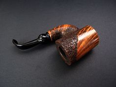 XL POKER FREEHAND PIPE (NO FILTER) T. POLINSKI BRIAR TYPE ROCK