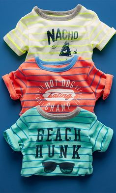 Toddler boys' fashion | Kids' clothes | Striped graphic tee | The Children's Place