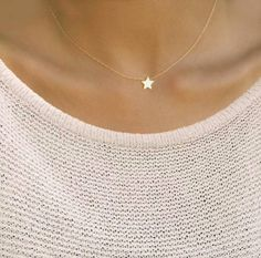 Star Necklace, Bridesmaids Jewelry- 15-17 Necklace ♥ Perfect a special gift to yourself and others! Available in silver, gold, and rose gold! Choose a star in any finish! :) Each item comes in a classy white jewelry gift box inside a pretty sheer white gift bag with a little bow