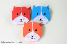 #origami #zabawydladzieci #origamiforkids #forkids #diy #easyorigami #bear #tedybear Origami, Arts And Crafts, Paper Crafts, Outdoor Crafts, Punch Art, Quilling, Applique, Stationery, Clock
