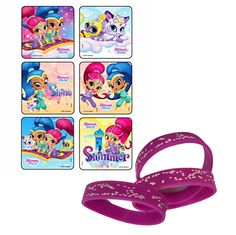 24 Shimmer & Shine Stickers & 12 Star Party Favor Wristbands