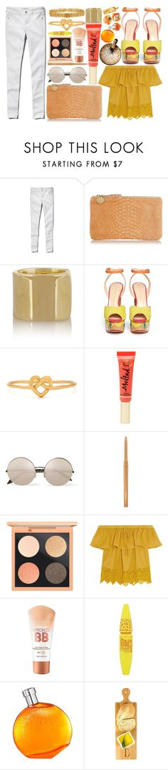 """Brunch"" by miica-olavarria ❤ liked on Polyvore featuring Abercrombie & Fitch, Clare V., Jennifer Fisher, Charlotte Olympia, Too Faced Cosmetics, Victoria Beckham, MAC Cosmetics, Madewell, Maybelline and Hermès"