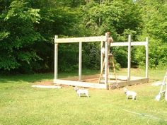 Building A Shed 753227106411228800 - How to Build a Cabin on a Budget: 15 Steps (with Pictures) Source by Wood Shed Plans, Shed Building Plans, Building A Deck, Building Ideas, House Building, Building Design, Cabin Plans, Backyard Sheds, Outdoor Sheds