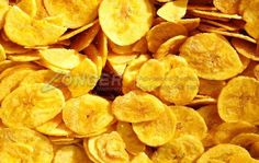 Lightly salted banana chips made from green bananas. Lightly salted banana chips made from green bananas. Raw Banana, Green Banana, Baked Banana Chips, Cooking Bananas, Vegetable Snacks, Vegetable Chips, Kerala Food, Chips Recipe, English Food