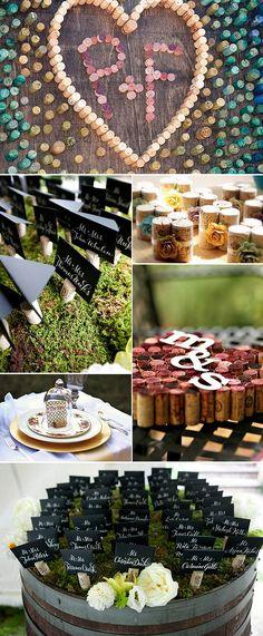 Ideas originales para la decoración de tu boda: Corchos