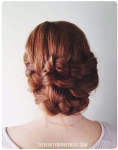 Easy hair tutorials: Double braids updo, with instructions at The Beauty Department. Love how this comes out!