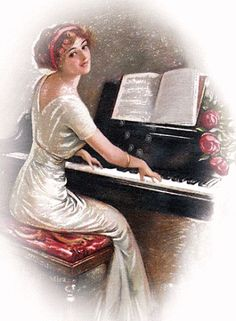 gifs animes femmes - Page 3 Beautiful Gif, Beautiful Pictures, Betty Boop, Musica Love, Piano Lessons For Beginners, Sing To The Lord, Les Gifs, Playing Piano, Illustration