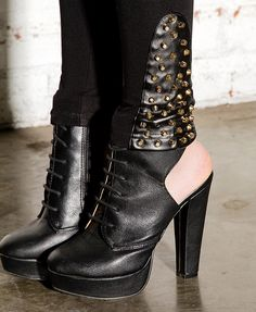 Studded Faux Leather Trimmed Leggings