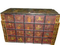 Antique Tribal Red Painted Original Patina Sideboard Hope Chest Jaipur India by Mogul Interior, http://www.amazon.com/dp/B0082JFLMI/ref=cm_sw_r_pi_dp_izQnrb0QT0R6H