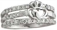 wedding ring set  Claddagh and bands...This is soooo Kimberly  CB
