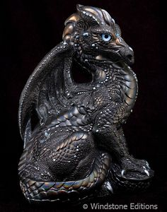 """""""Youthful Silver Dragon"""" Youthful Dragon, the newest edition to my Merfle Munchies sculpture store! He is a large 9 inch high dragon! Originally sculpted him in super sculpey and painted in special..."""