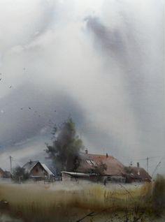 Before the Storm. Watercolor paintings by Russian artist Ilya Ibryaev