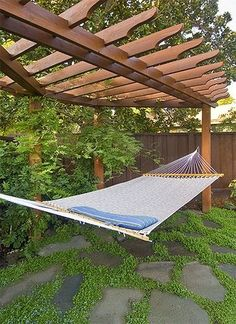 Homes and styles: Custom Pergola with Hammock