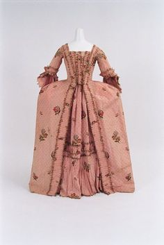 """fripperiesandfobs: """" Robe a la francaise, 1760-70 From the Bunka Gakuen Costume Museum """""""