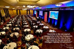 Electricity is the new asphalt connectivity is the new horsepower and silicon is the new oil. Are you ready for the new world of intelligent highway infrastructure? - #Futurist Jim Carroll  A great photo from my keynote earlier this week for a highway infrastructure conference about what comes next in terms of road automative trucking and highway infrastructure.  We will see fast trends in terms of a shift to electric vehicles - and super-charging will be a critical component of smart…