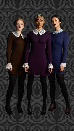 Wallpapers / Chilling Adventures of Sabrina / sisters Sister Costumes, Movie Costumes, Halloween Costumes, Halloween 2018, Sabrina Costume, L Cosplay, Weird Sisters, Teen Witch, Kiernan Shipka