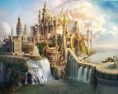 Imagen de castle, fantasy, and art