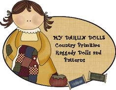 My Darlin Dolls - Primitive country raggedies, finished raggedy dolls, doll patterns, and so much more. A nice selection of handmade dolls and patterns.