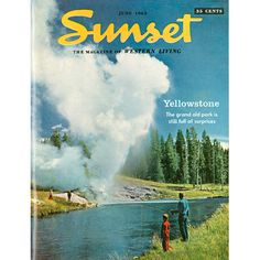 Yellowstone, June 1963 Sunset cover
