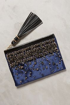 Beaded Satin Clutch - anthropologie.com #anthrofave
