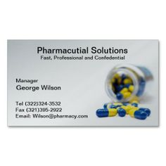 pharmacy pharmacist business card - Pharmacy Business Cards