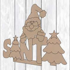 caja letras santade madera mdf Tamaño: Largo 14cm x Ancho 8.5cm x Alto 9cm Beaded Christmas Ornaments, Wooden Ornaments, Christmas Wood, Felt Ornaments, Country Christmas, Christmas Snowman, Christmas Time, Christmas Crafts, Country Paintings