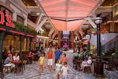 Walk along the Promenade for shopping, dining & entertainment #travel #cruising