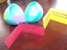Kids can make their own Resurrection Egg to take home.