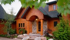 images of green cedar homes | Custom Cedar Log Homes, Luxury Cottage Floor Plans, Architectural ...