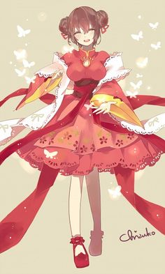 Fem!China in a pretty red dress ^^