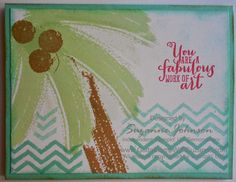 STAMPIN UP! WORK OF ART SET - COCONUT PALM  by Suzanne Johnson at www.gottastampwithsuzanne.com