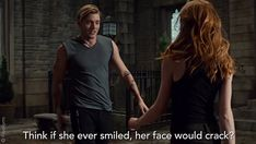 """S2 Ep12 """"You Are Not Your Own"""" - THIS SCENE. #Shadowhunters Cassandra Clare, Shadowhunter Academy, Clary And Jace, Dominic Sherwood, Shadowhunters The Mortal Instruments, Clace, The Dark Artifices, City Of Bones, Think"""