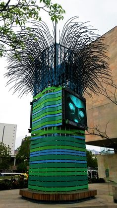 """The """"airbol"""" is a construction that purifies the air of Medellín just as trees do. Actually, there are two of them in Medellín. Each of the airbols purifies as much air as 60.000 persons are breathing! Found in the City of Medellín. #innovation #medellín #colombia #airbol #oxygen #sustainability #travel #tree #travelandmakeadifference"""
