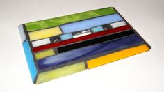 Multi-Colored Stained Glass Light Switch Plate, $20