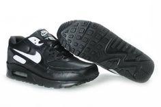 dd0fe5e73b8f7b Vente pas cher Nike Air Max 90 Homme Chaussures Noir Avec Blanche Logo  France La Vente De Sortie