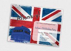 Custom Printable UK British 5x7 Birthday by tertipesdesignstudio, $12.00