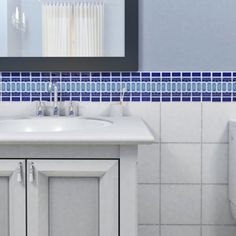 Shop for SomerTile 13.125x11.5-in Modena Cobalt Blue Porcelain Mosaic Tile (Pack of 10). Get free delivery at Overstock.com - Your Online Home Improvement Shop! Get 5% in rewards with Club O!