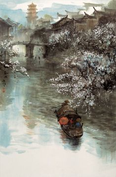 landscape by Zhao Chao Wu Chinese artist painter