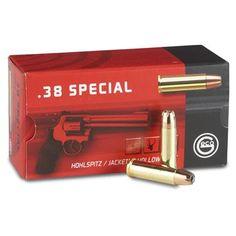 50 rds. GECO .38 Special 158 Grain JHP Ammo
