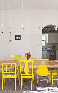Image result for mismatched dining chairs