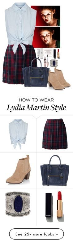 """Lydia Martin inspired look IV"" by nikkilubyou on Polyvore featuring Chanel, Herbivore, Maybelline, Lands' End, Topshop, New Look, MICHAEL Michael Kors, Baxter of California and LULUS"