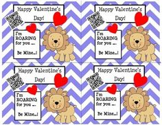 Valentine's Day Cards (Chevron/Lion) with Fun QR Code Pre K-2nd $ There are MANY different Valentine's Day cards to choose from. If you would like to see more, go to our store (QR Queens) and click Valentine's Day Cards under Custom Categories on the left.