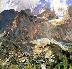 Val d'Aosta (also known as The Moraine) John Singer Sargent - circa 1907