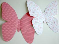 Paper butterflies templates #DIY